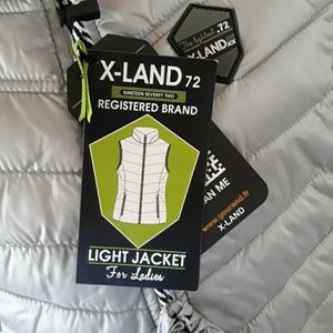 X-LAND 72 Jackets & Coats - {X-LAND 72} Packable Gray Puffer Vest